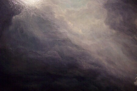 Detail of Clouds in Lid Painting