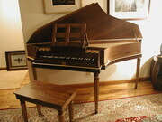 Bentside Spinet after Keene and Brackley with walnut case