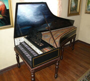 Franco/Flemish harpsichord modeled after the Boston Museum of Fine Arts original built by Couchet~Blanchet~Taskin
