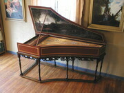 Flemish Harpsichord after Andreas Ruckers 1640 petite ravalement compass A to c'''