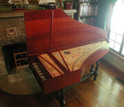 Flemish Harpsichord after Andreas Ruckers 1640 with case in solid Padauk