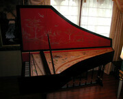 Flemish Harpsichord after Couchet with chinoiserie