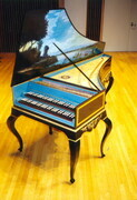 Franco-Flemish Double manual Harpsichord after Couchet/Blanchet/Taskin with Louis XIV stand