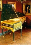 Franco-Flemish Double maual Harpsichord after Couchet/Blanchet/Taskin with Louis XVI stand