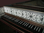 Flemish Harpsichord after Couchet keywell detail