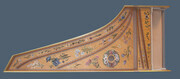 Soundboard painting comission for an instrument built in the style of Jean-Antione Vaudry Paris 1681.